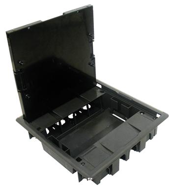 Caja de Suelo con Tapa Inox - 16 Módulos
