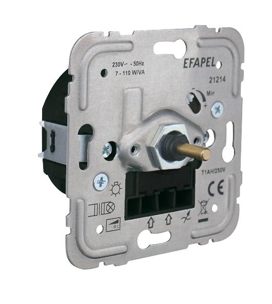 Regulador/Conmutador de Luz Rotativo Ferromagnético para Lámparas de Bajo Consumo de 110VA R, L