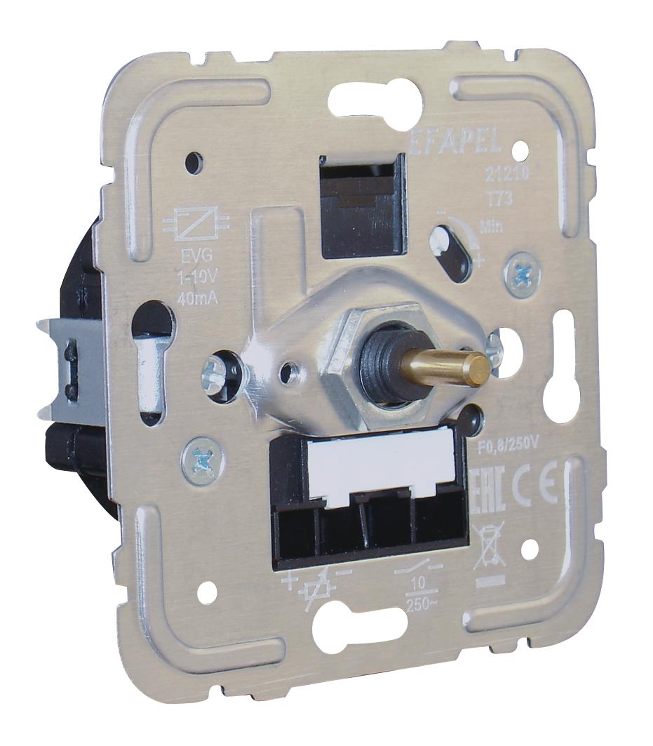 Regulador/Interruptor de Luz Rotativo para Lámparas Fluorescentes con Balastro Electrónico 1-10V